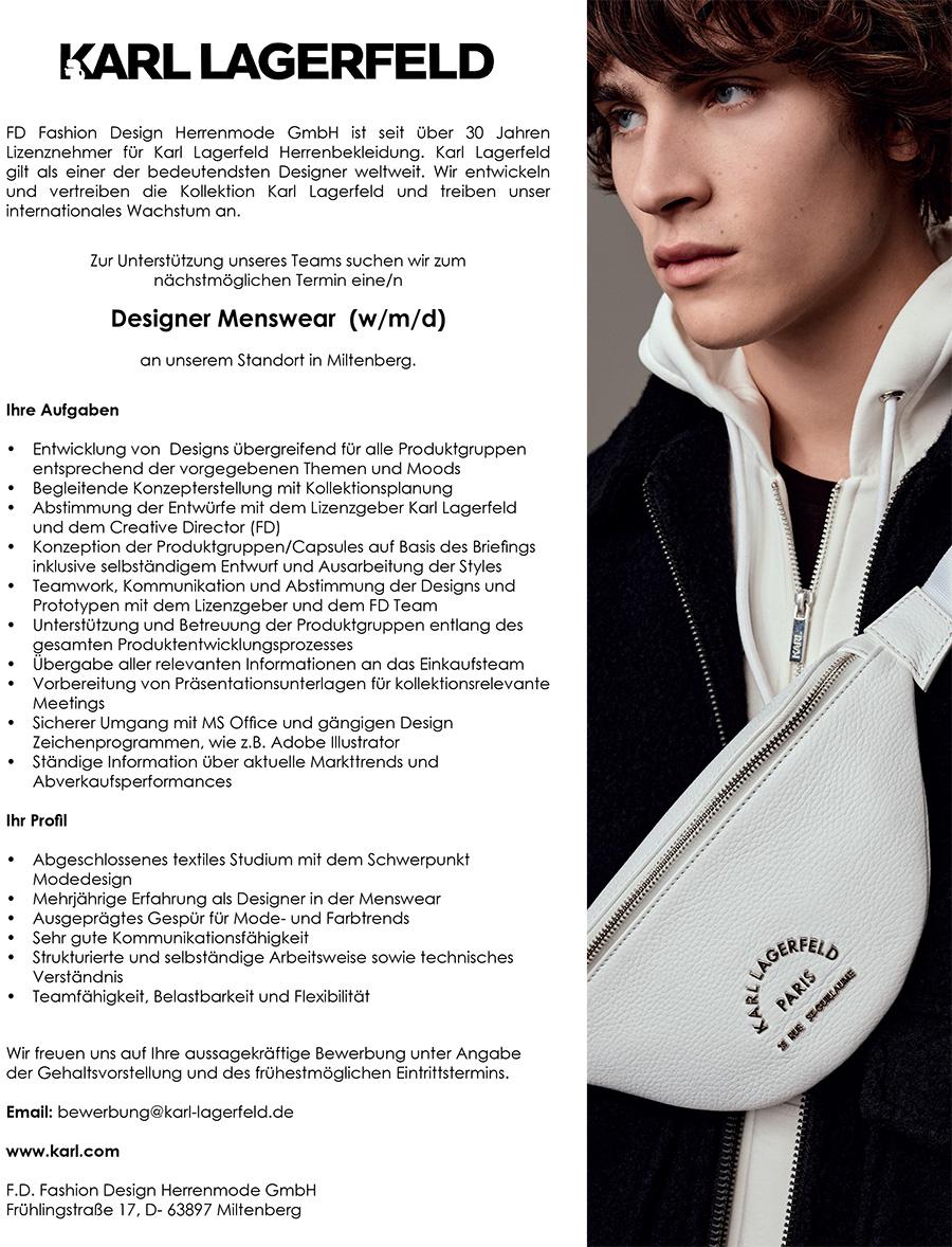 Designer Menswear W M D Miltenberg